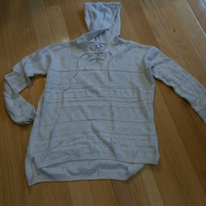 Sonoma soft lace up textured sweater hoodie